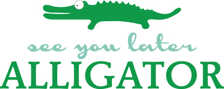 gator: Use this gator on a babys shirt or matching blanket.
