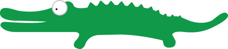 Use this gator on a babys shirt or matching blanket.