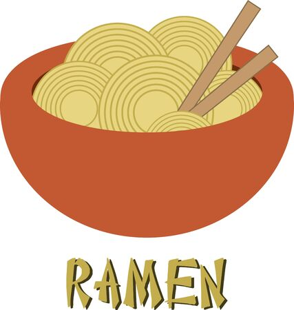 placemats: Use this bowl of ramen to decorate placemats and napkins.
