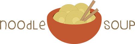 placemats입니다 및 냅킨을 장식하는라면이 그릇을 사용합니다. 일러스트