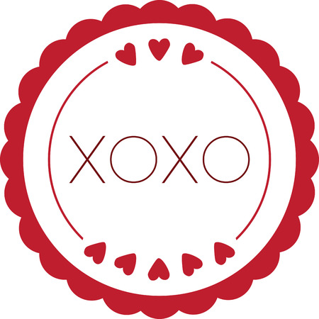 xoxo: Use this heart circle for a sweet Valentine message for your Valentine. Illustration