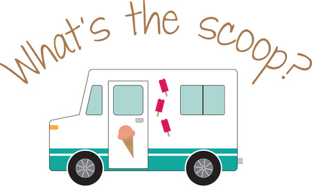 sherbet: Use this ice cream truck for a drivers shirt.