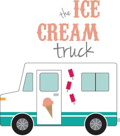 chauffeurs: Utilisez ce camion de cr�me glac�e pour la chemise de conduire.