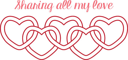 Use this heart border for a sweet gift for your Valentine. Çizim