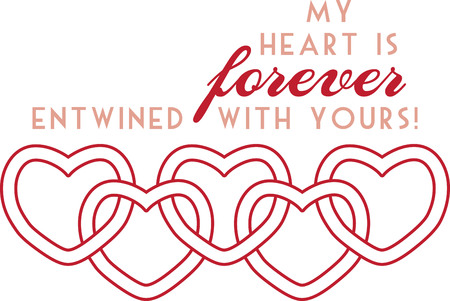 Use this heart border for a sweet gift for your Valentine. Иллюстрация
