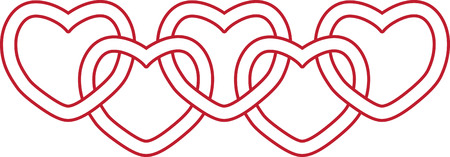 Use this heart border for a sweet gift for your Valentine. 向量圖像