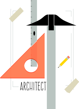 architect tools: These tools will make a great logo for an architect shirt.