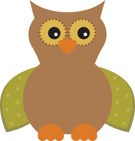 fall harvest: Use this fall owl on a baby bib for your grandbaby.