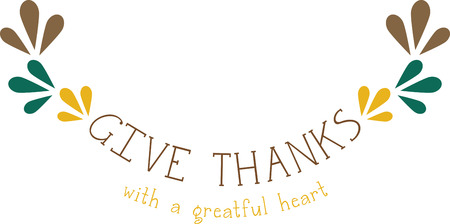 Use this Thanksgiving design on a baby bib for your grandbaby.