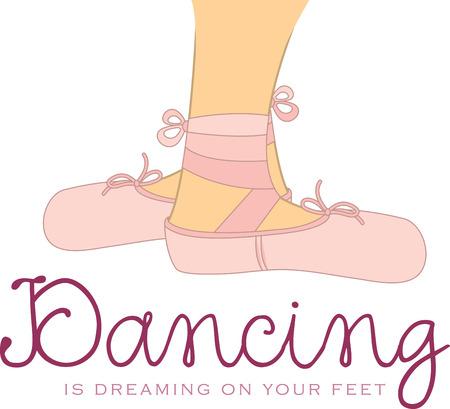 Use these ballet feet for a ballet shirt or ballet bag for a little dancer.