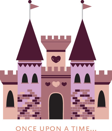 A little girl will enjoy this fantasy castle on her shirt or a bed set. Иллюстрация