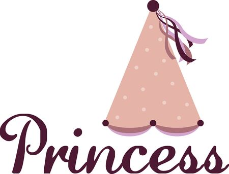 pajama: Use this princess hat on a pajama nightgown for your own little princess. Illustration