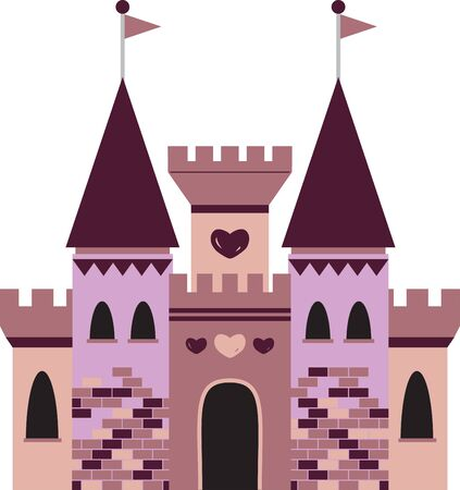 A little girl will enjoy this fantasy castle on her shirt or a bed set. Illustration