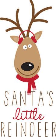 Gebruik van de kerstman rendieren voor een feestelijke trui of jurk kinderspel.