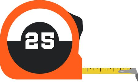 Use this measuring tape for a handy tool mans shirt. Ilustracja
