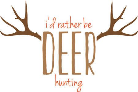 Use this deer design for a hunters cap.