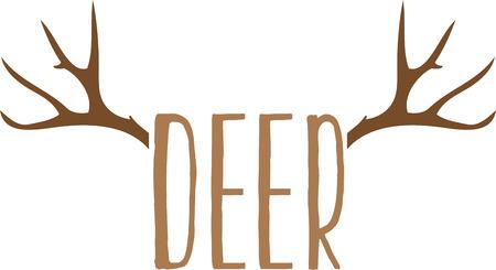 Gebruik deze herten ontwerp voor dop van een jager.