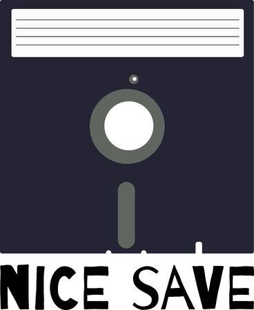 Use this original floppy for a retro shirt design.