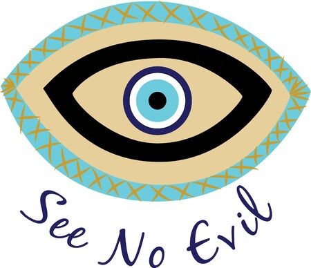 Use this eye for an Arabian Princess shirt. Иллюстрация