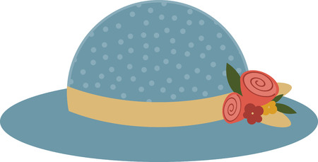 You could use this floral hat on a throw pillow.
