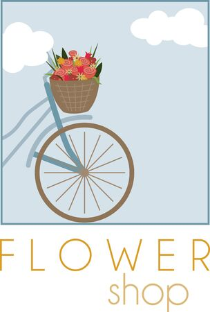 Give a friend this peaceful bicycle on a shirt. Ilustrace
