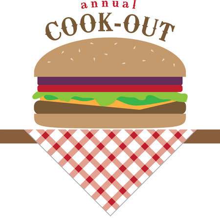 Use this burger for a new grilling apron for dad.