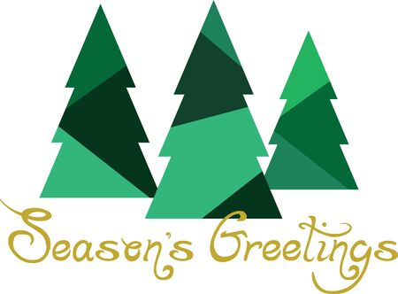 Use this forest of Christmas trees on a childs shirt or dress. This would make a cute design for matching siblings outfits.
