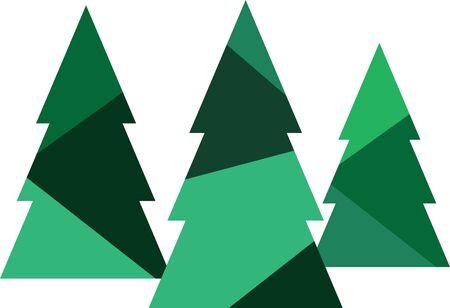 子供のシャツやドレスのこの森のクリスマス ツリーを使用します。これは兄弟の服装と一致するのかわいいデザインを作るでしょう。