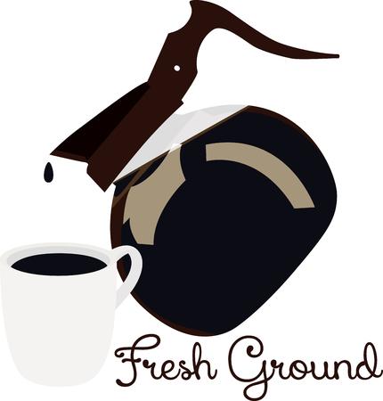 baristas: Use this coffee pot for a baristas shirt or apron.