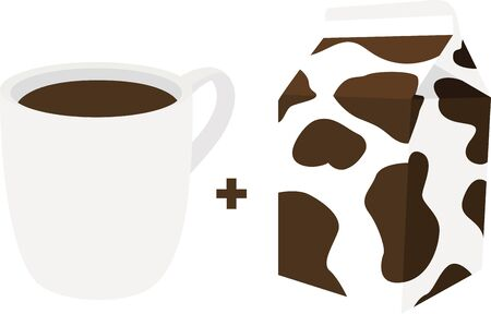 creamer: Use this coffee cup and creamer for a baristas shirt or apron.