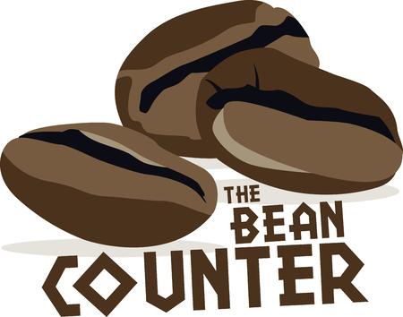 baristas: Use this coffee bean design for a baristas shirt or apron.