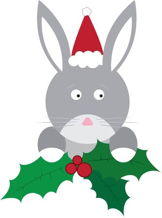 siblings: Use this holly bunny on a childs shirt or dress. This would make a cute design for matching siblings outfits.
