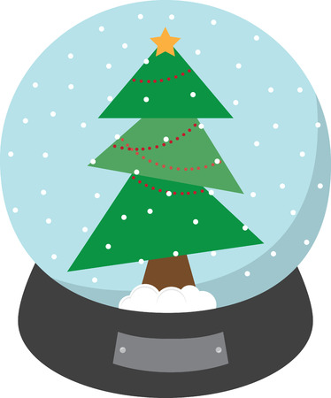 siblings: Use this snow globe on a childs shirt or dress. This would make a cute design for matching siblings outfits.