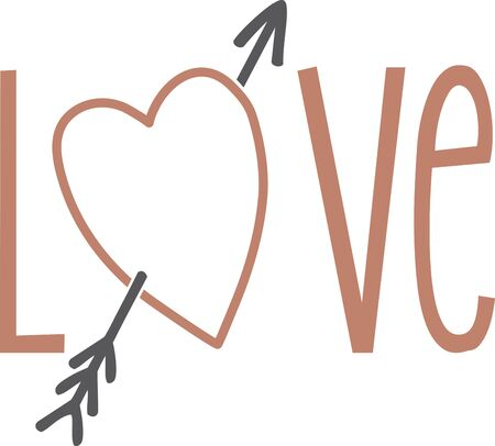 heart outline: Use this heart outline for an engagement shirt. Illustration