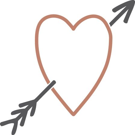 Use this heart outline for an engagement shirt. Иллюстрация