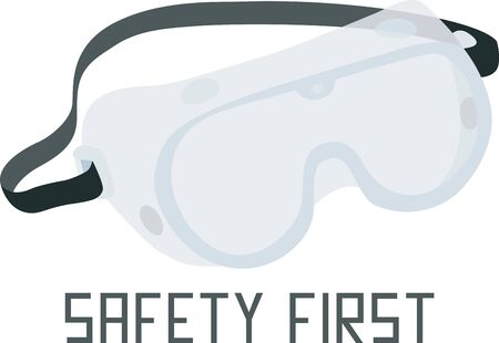 construction equipment: Safety goggles will make a great icon for an construction or science company.