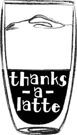 latte: Use this latte for a baristas shirt or apron.