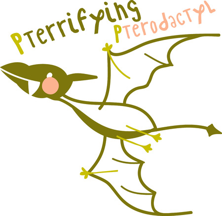 pterodactyl: The Jurassic rules in this design!  Perfect for a bib, shirt or more for every dino-loving kid who wants to be surrounded by his pre-historic pals!