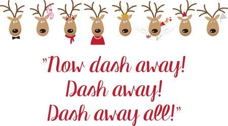 vixen: Use Santas reindeer for a festive sweater or childs dress.