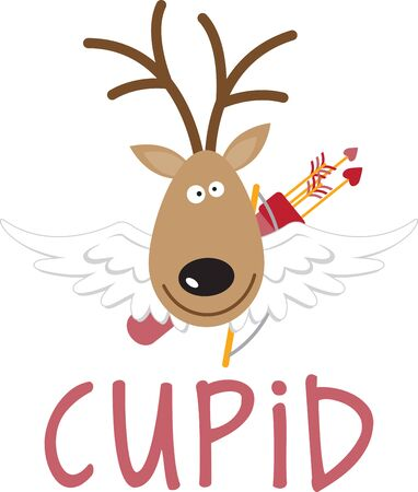 Use this Santa's reindeer for a festive sweater or child's dress.