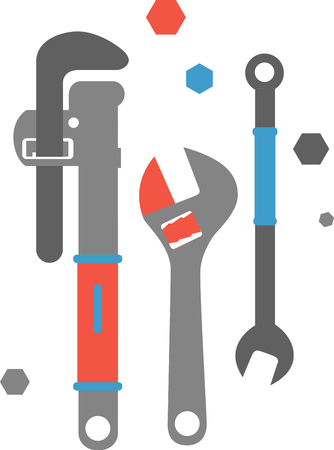 These tools will make a wonderful illustration on a plumbers t-shirt.