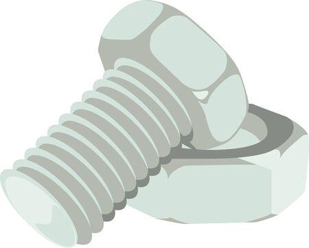 이 너트와 볼트는 건설 회사 셔츠의 멋진 그림을 만듭니다. 스톡 콘텐츠 - 42923322