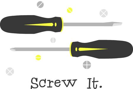 These screwdrivers will make a great illustration for a construction company shirt.