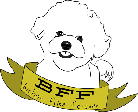 frise: Dog lovers will love this design on a dog toy bag to bring to the dog park.