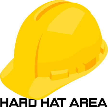 tool boxes: Use this hard hat for a construction company shirt. Illustration