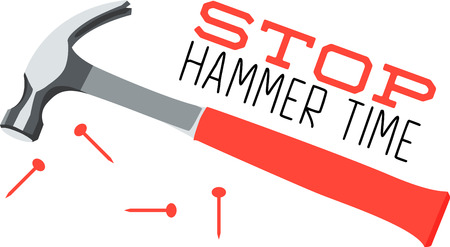tack: Use this hammer for a handyman shirt or a illustration for a construction company.