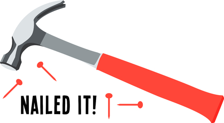 tack: Use this hammer for a handyman shirt or a logo for a construction company.
