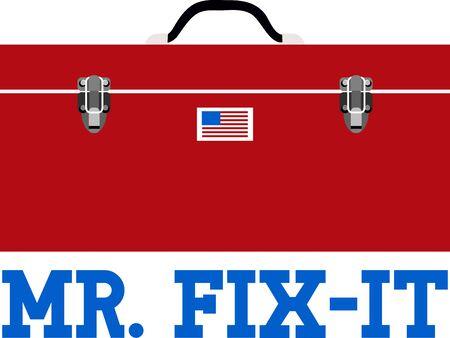 Use this tool box for a handymans shirt.
