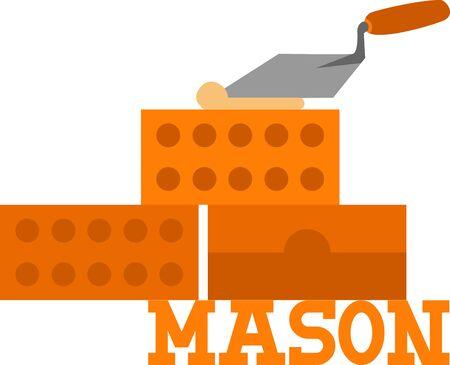 Use this brick wall for a masons shirt.