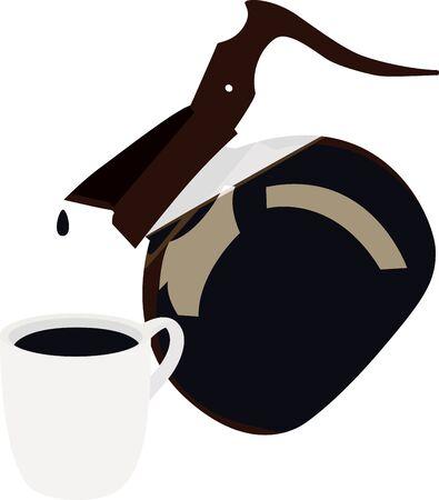 バリスタのシャツやエプロンにこのコーヒー ポットを使用します。